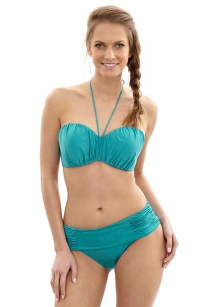 Marina Bandeau Bikini Turquoise