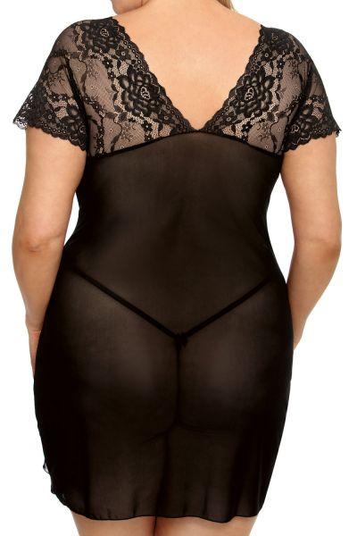 Anaïs apparel Anaïs+ Marina Lace Chemise Black  Plus sizes