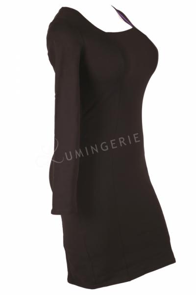 Urkye Mi Long Sleeved Dress Black Long sleeved jersey pencil dress 34-44 O/OO, OO/OOO SU-016