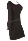 Urkye Mi Long Sleeved Dress Black-thumb Long sleeved jersey pencil dress 34-44 O/OO, OO/OOO SU-016