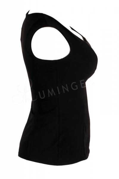 Urkye Mikra Top Black Sleeveless tailored top 34-46 O/OO, OO/OOO BL-029-CZA