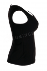 Urkye Mikra Top Black-thumb Sleeveless tailored top 34-46 O/OO, OO/OOO BL-029-CZA