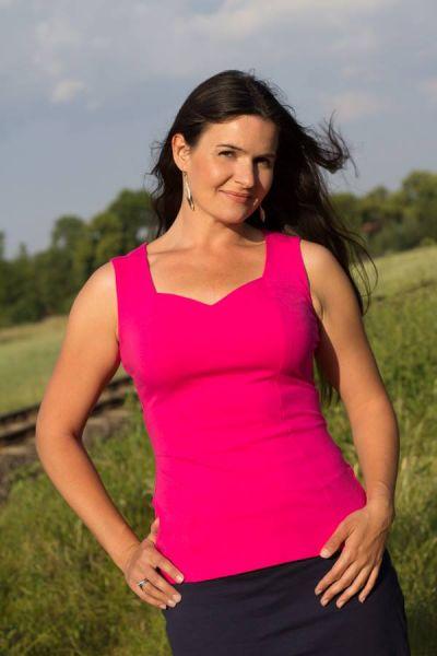 Urkye Mikra Top Pink Yarrow Sleeveless tailored top 38-46 O/OO, OO/OOO BL-029-ROZ