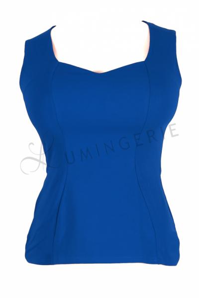 Urkye Mikra Top Lapis Blue Sleeveless tailored top 34-44 O/OO, OO/OOO BL-029-NIE