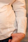 Minimal Long Sleeved Button Up Shirt White-thumb