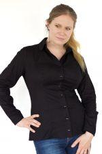 Minimal Long Sleeved Button Up Shirt Black