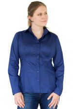 Minimal Long Sleeved Button Up Shirt Navy