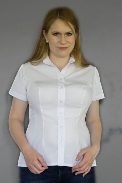 Minimal Short Sleeved Button Up Shirt White