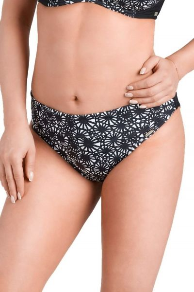 Mirabella Bikini Briefs Black and White Print