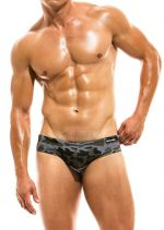 Camo marine swim brief khaki