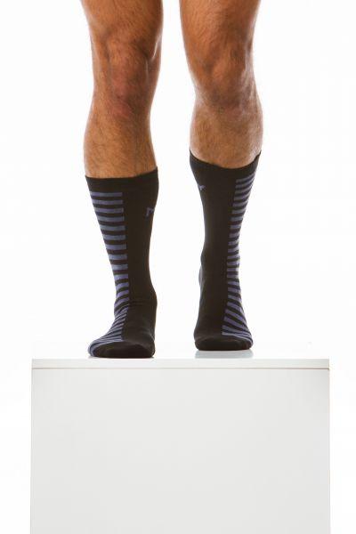 Half'n'half Socks black and blue
