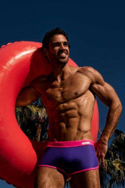 Modus Vivendi Mix & Match Swim Boxer purple Swim boxer 80% Polyamide, 20% Elastane S-XL CS1921_purple