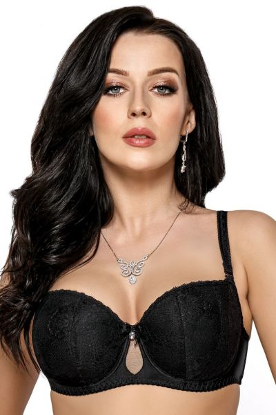 Nellie Padded Balcony Bra Black