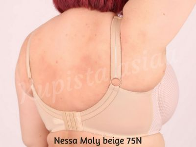 Nessa Moly Soft Bra Beige Underwired, unpadded soft cup balconnet 65-110, D-O