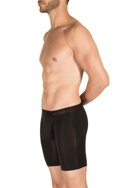 Obviously PrimeMan Boxer Brief Black 9 inch leg Boxer brief with 9