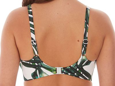 Fantasie Palm Valley UW Padded Balcony Bikini Top Fern Underwired, lightly padded balcony bikini bra 70-90, D-K FS6761-FEN