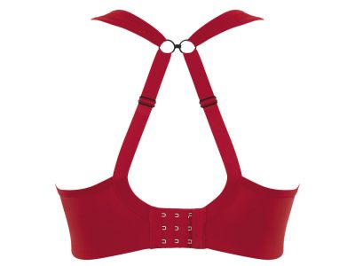 Panache Sport Panache Sports UW Bra Fiery Red Underwired padded sports bra with racer back option 60-90, D-J 5021A-FID