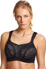 Panache Sports UW Bra Black Lace with Latte