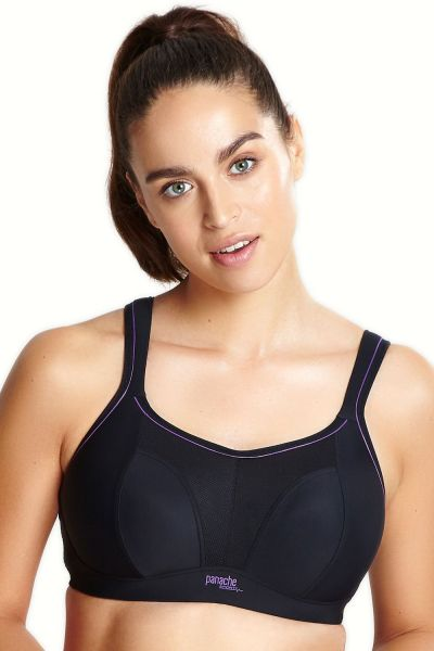 Panache Sport Non Wired Sports Bra Black