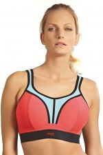 Panache Sport Non Wired Sports Bra Coral Sky