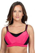 Dynamic Underwired Padded Sports Bra Claret Red