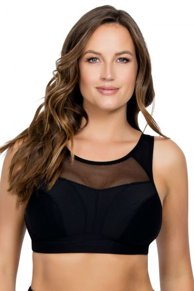 Parfait Active Non-Padded Wirefree Sports Bra Black