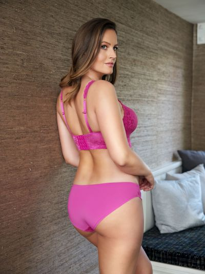 Adriana Lace Bralette Raspberry