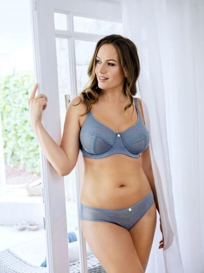 Parfait Lingerie Enora Minimizer Bra Stormy Skies Underwired, non-padded soft cup minimizer bra 80-100, D-G P5272-STO