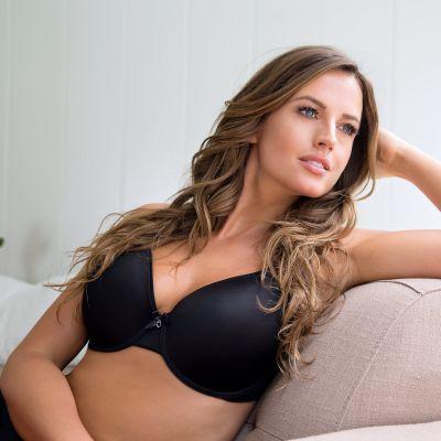Parfait Lingerie Jeanie Bandless T-shirt Bra Black Underwired, smooth foam padded t-shirt bra 65-100, D-G 4812-BLK