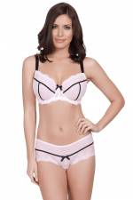 Leigh Unlined Wire Bra Cream Pink