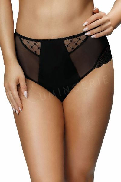 Paris High Waist Briefs Black
