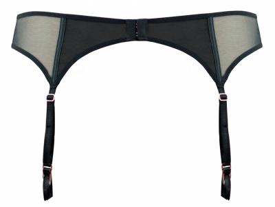 Peek-A-Boo Suspender Black
