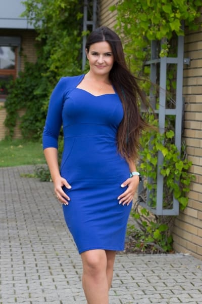 Dama Pik Dress 3/4 Sleeves Monaco Blue
