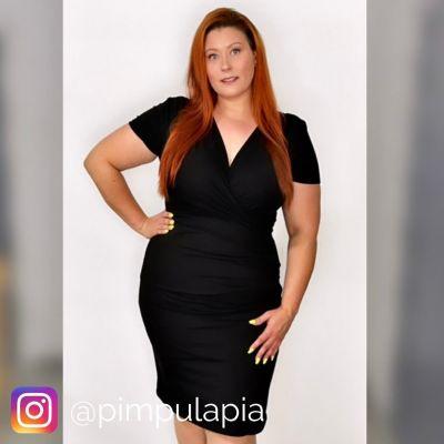 Urkye Kopertowy Olowek Short Sleeved Pencil Dress Black short sleeved pencil dress with wrap top 34-46 O/OO, OO/OOO SU-025-CZA