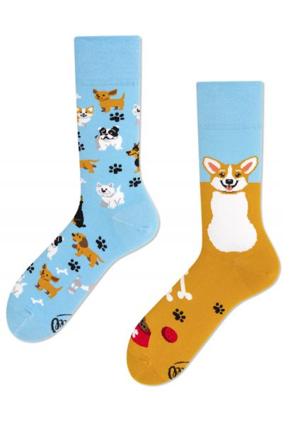 Many Mornings  Playful Dog Regular Socks 1 pair  35-38, 39-42, 43-46 R92