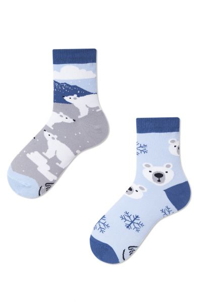 Many Mornings  Polar Bear Kids Socks 1 pair  23-26, 27-30, 31-34 K10