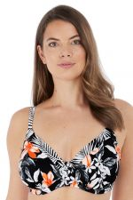 Port Maria UW Full Cup Bikini Top Black Floral