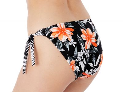 Fantasie Port Maria Tie Side Bikini Brief Black Floral  S-XL FS6896-BLK