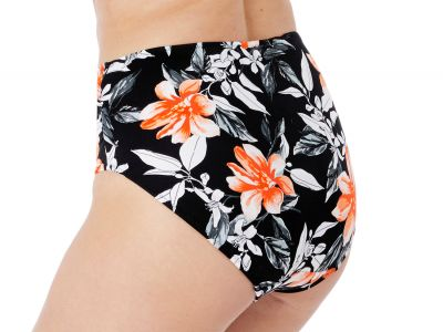 Fantasie Port Maria Full Bikini Brief Black Floral  S-2XL FS6897-BLK