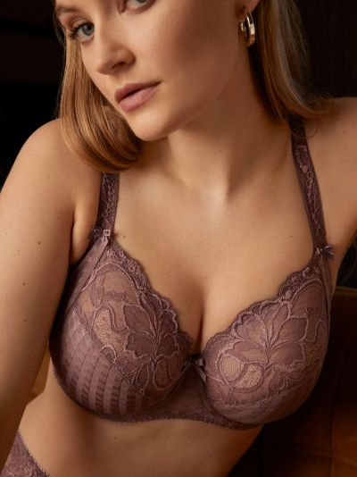 PrimaDonna Madison UW Full Cup Bra Satin Taupe Underwired, non-padded full cup bra 70-100, D-I 01621-20/21-SAT