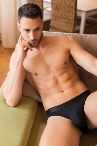 Obviously PrimeMan Hipster Brief black Hipster Brief 90% Lenzing MicroModal, 10% Lycra <br> S-XL A04-1A