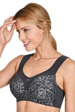 Queen Non-Wired Bra Dark Grey