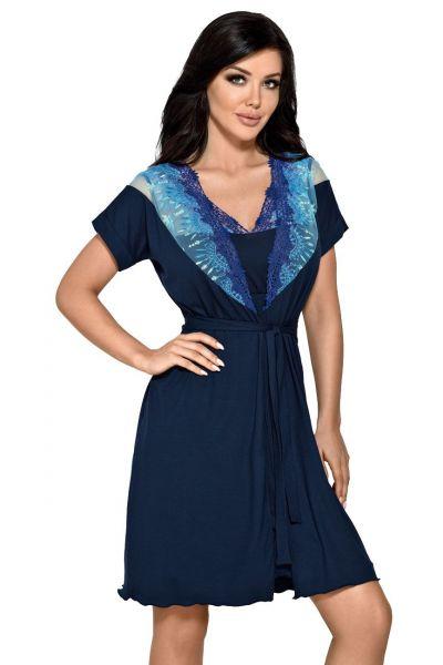 Ramona Dressing Gown Navy