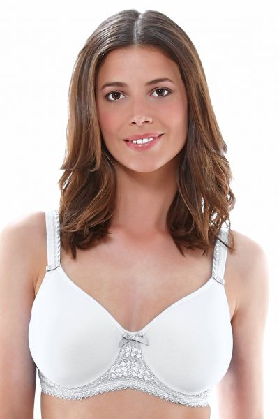 Fantasie Rebecca T-Shirt Bra White Underwired moulded t-shirt bra with thin spacer foam padding 65-90, E-K FL2024-WHE