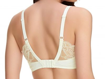 Fantasie Rebecca Lace UW Spacer Bra Ivory Full cup, smooth, moulded, unpadded bra with underwires 70-90, D-K FL9421-IVY