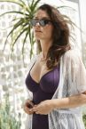 Panache Swimwear Riviero Swimsuit Aubergine-thumb Underwired swimsuit with luxurious jacquard fabric 70-90 E-K SW1330-AUB