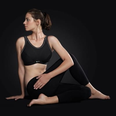 Impact Free Wirefree Sports Bra Black D-FF cups