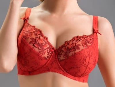 Rubin Soft Bra Red