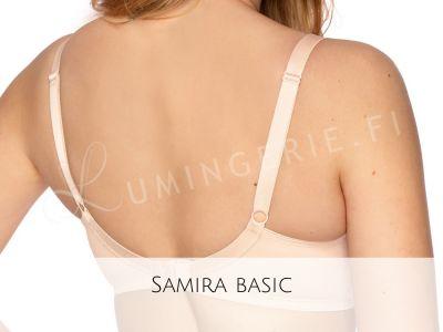 Gaia Lingerie Samira Soft Bra Beige Underwired, soft cup bra with side support 70-105, D-L BS-874-BEZ