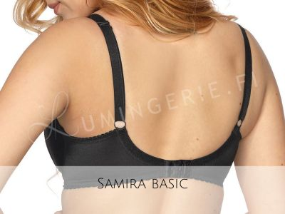 Gaia Lingerie Samira Soft Bra Black Underwired, soft cup bra with side support 65-105, D-L BS-874-CZA